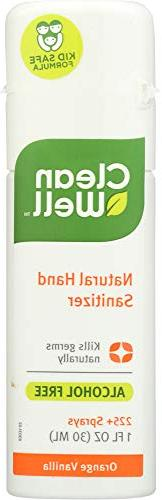 Cleanwell All Natural Hand Sanitizer Alcohol Free Orange Van