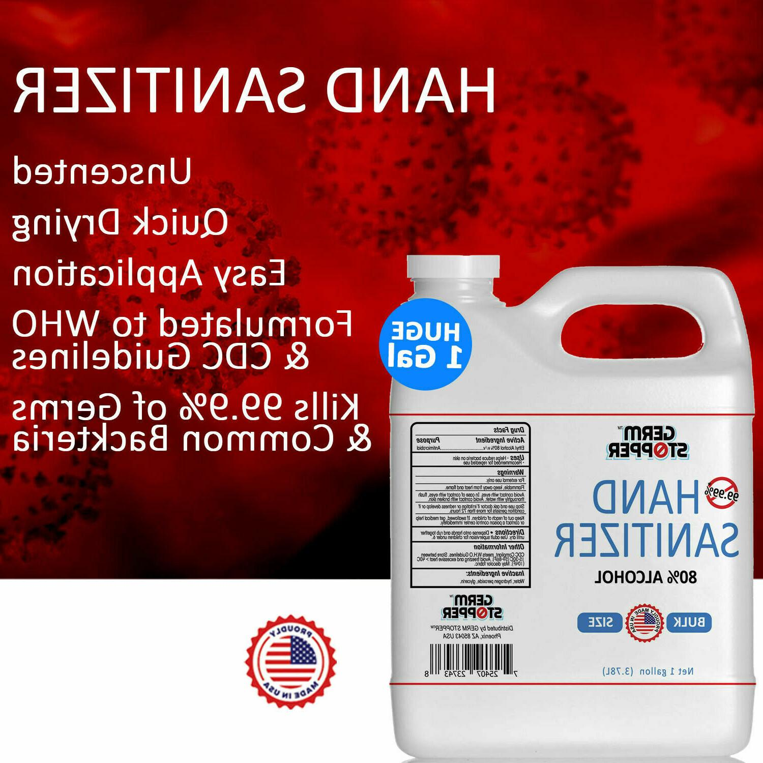 Hand Alcohol - MEETS CDC / WHO GUIDELINES 1 GALLON