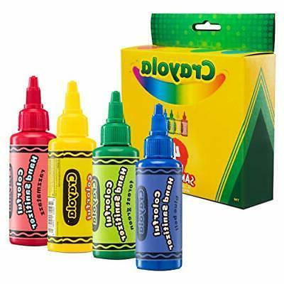 Crayola Hand Sanitizer for Kids, Pack of 4 Antibacterial Gel