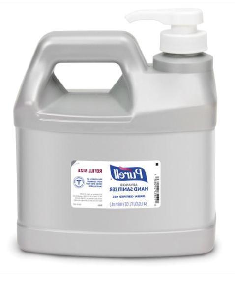 hand sanitizer gel 64oz refill size jug