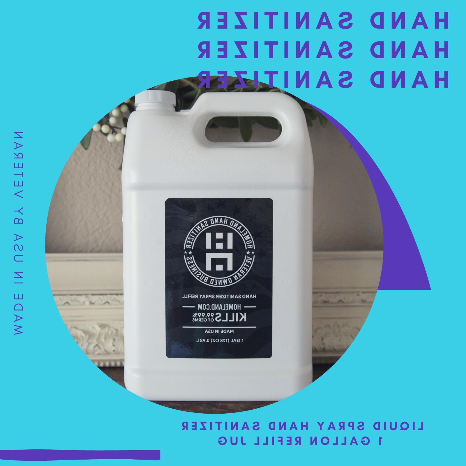 hand sanitizer liquid 1 gallon refill kills