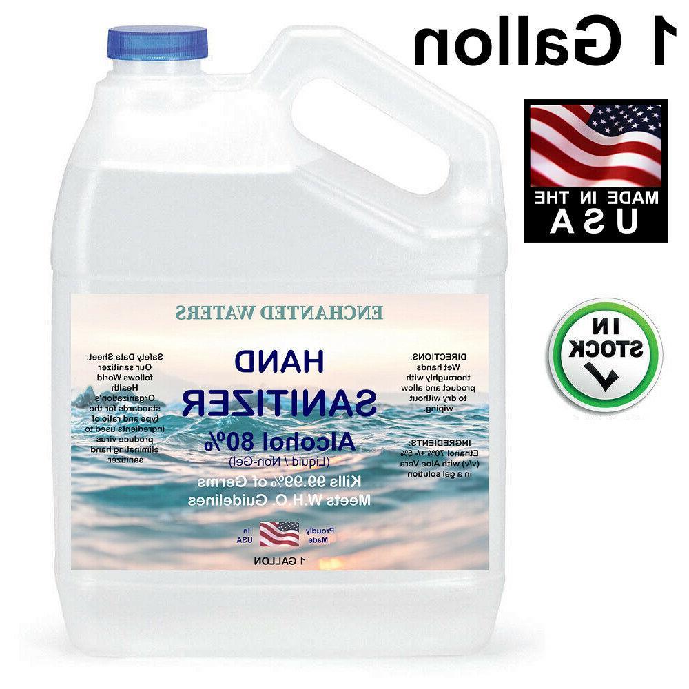 hand sanitizer liquid non gel 80 percent