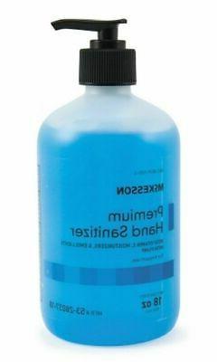 Hand Sanitizer McKesson Premium 18 oz. Ethanol Gel Pump Bott