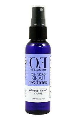 EO Hand Sanitizer Spray- Organic Lavender, 2-Ounce Pack of 2