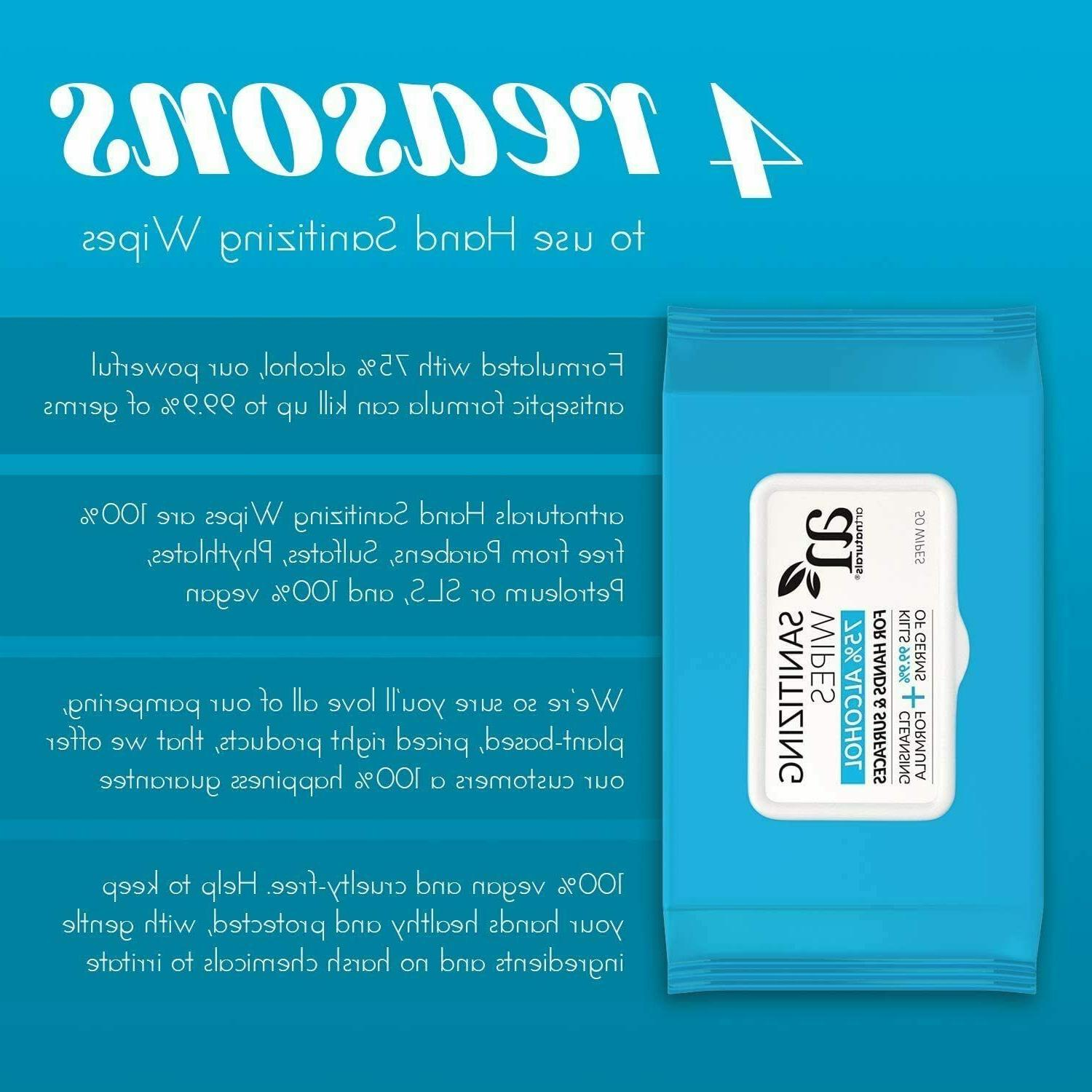 Hand Sanitizer Wipes -75% Alcohol-Based - Disposable- Travel Size