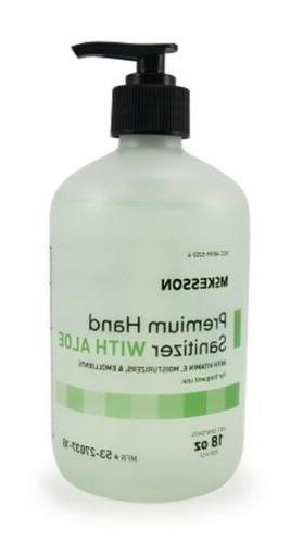 hand sanitizer with aloe premium 18 oz
