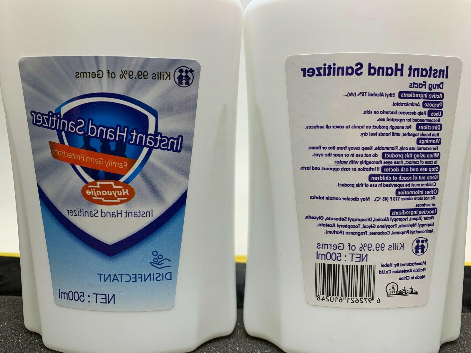 Hand Sanitizer Pump 2 Pack 500ML OZ 99.9% Germs