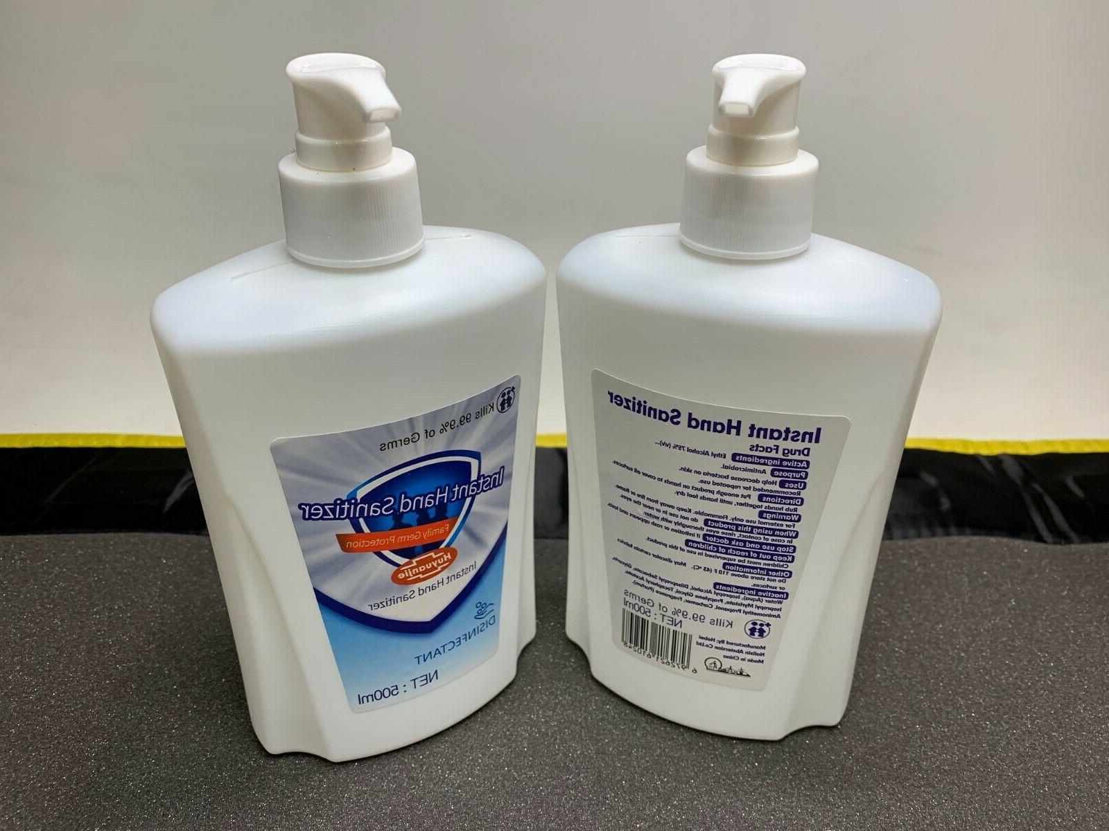 Hand Sanitizer With Pump 2 Alcohol 500ML OZ Kills 99.9%