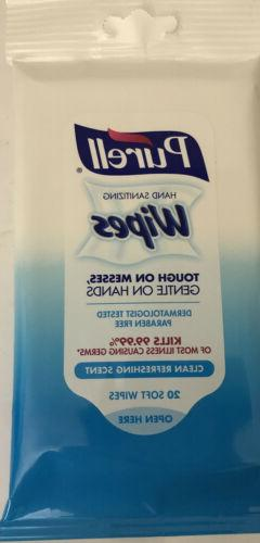 PURELL Hand Sanitizing Wipes, Clean Refreshing Scent-1ea 20
