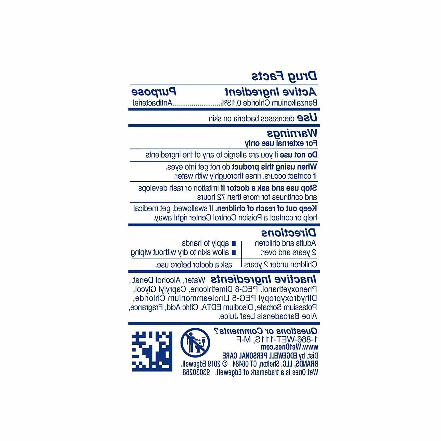 Wet Hand Sanitizing Wipes, Tropical, 24 6