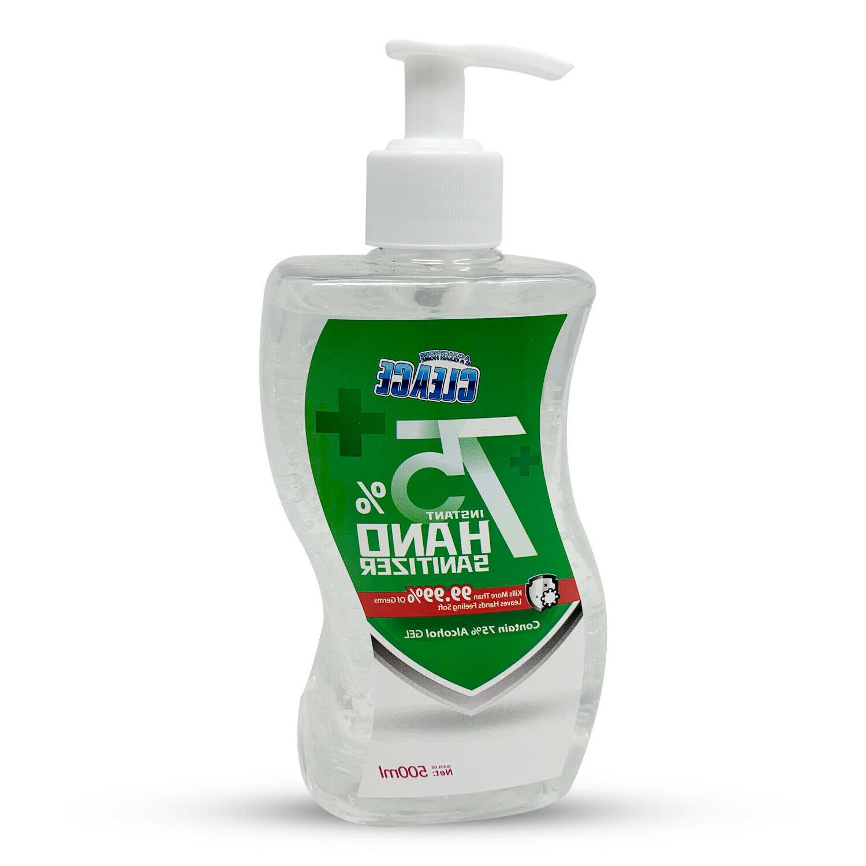 Clease Hand Sanitizer 75% Alcohol Gel 16.9oz 500ml Large Siz