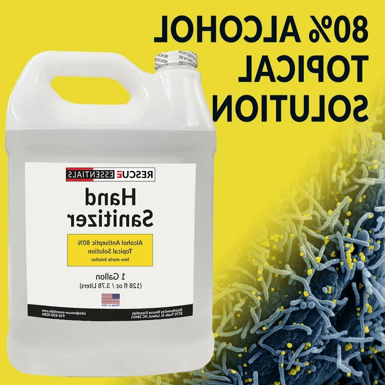 Liquid Hand Sanitizer -4 Oz, 32 Oz, 1 Gallon, 5 Gal & Auto D