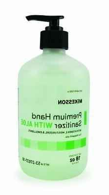McKesson Premium Hand Sanitizer with Aloe 18oz Ethanol Gel P