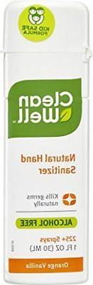 CleanWell Natural Hand Sanitizer Spray - Orange Vanilla, 1 F