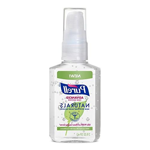 naturals advanced hand sanitizer 2oz pump bottle