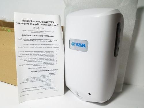 nexa touch free wall mount hand sanitizer