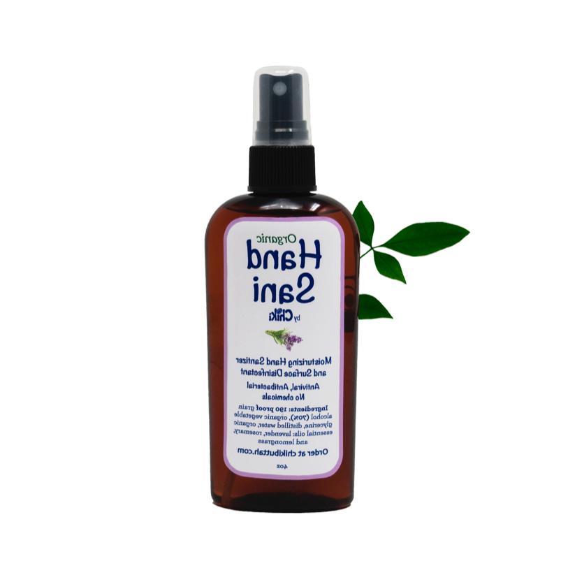 organic hand sanitizer disinfectant 4oz viral bacterial