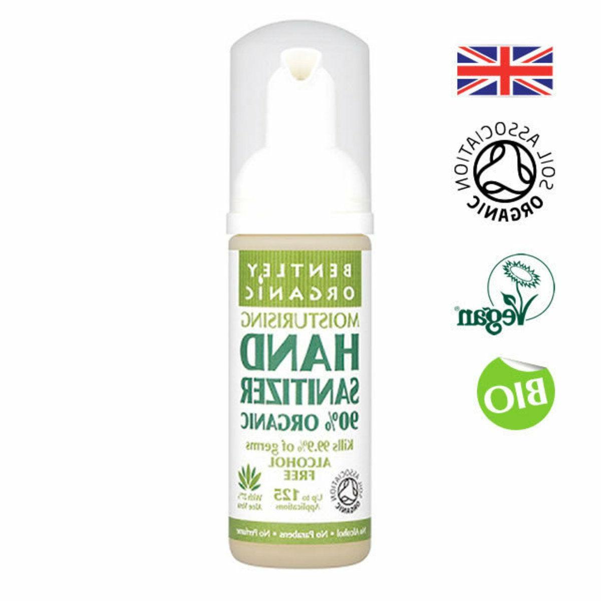 Pack 3 Moisturising Organic Hand Sanitizer 50ml Kills 99%+ of Germs
