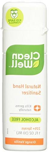 Cleanwell Personal Care Orange Vanilla Spray Hand Sanitizers