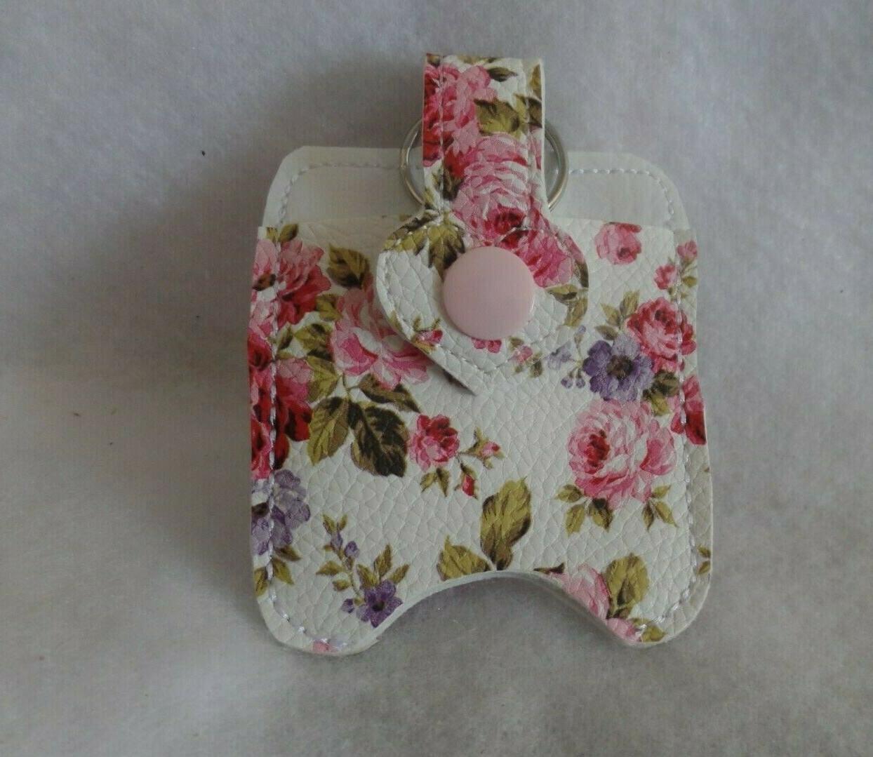 flowered pink hand sanitizer holder free shipping