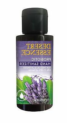 Probiotic Hand Sanitizer Lavender and Tea Tree Oil Desert Es