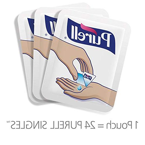 PURELL Sanitizer with Carry Pouch, Count Sanitizer Single Use Pouches