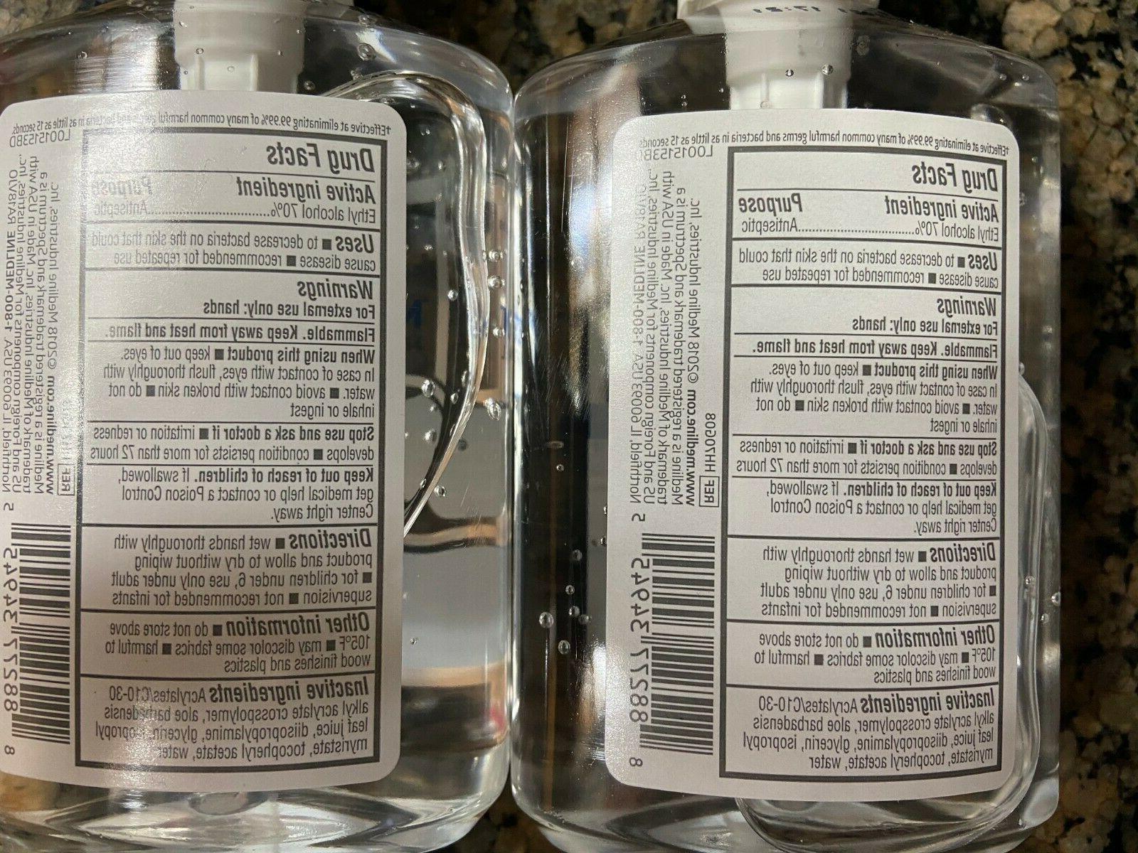 Medline Sanitiser - Pack Hand-Pump Bottles