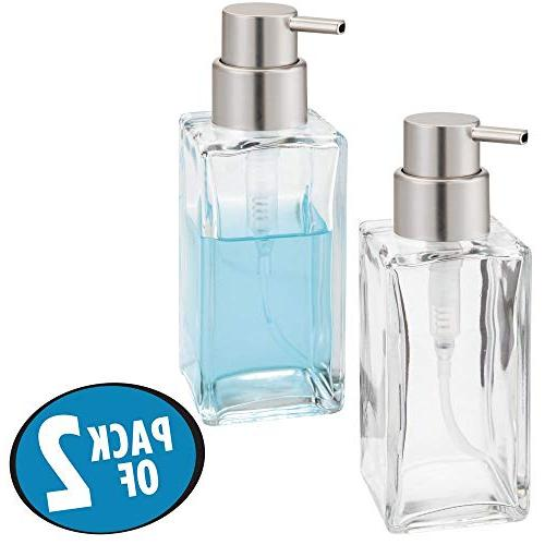 mDesign Glass Liquid Bottle Countertop, Holds Hand Soap, Dish Soap, Hand Oils 2 -