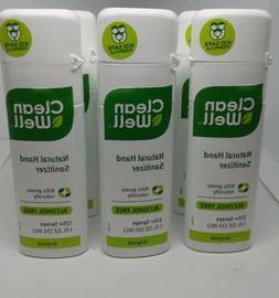 ❤CLEAN WELL NATURAL HAND SANITIZER PACK OF  1 OZ. TRAVEL S