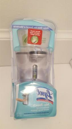 Lysol No Touch Hand Soap Dispenser Silver Stainless Look Exp