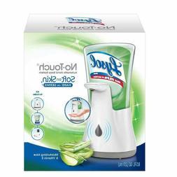 No-Touch Hand Soap Kit Dispenser & Refill Moisturizing Aloe