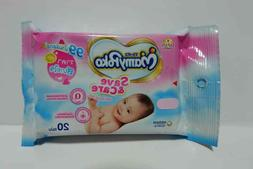 Pack of 20 Wipes Pure Alcohol Free Baby Wipes Wet cloth clea