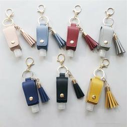 30 ML Portable Handed Sanitizer Holder Hook Keychain Bottle