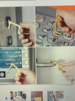 Portable Hygiene Hand Antimicrobial Brass EDC Door Opener El