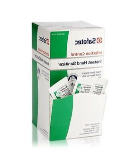 Safetec Instant Hand Sanitizer with Aloe 1/32 oz 6 Boxes  -