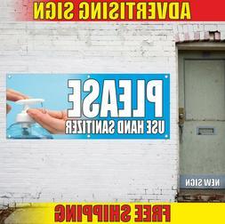 SANITIZE HANDS Banner Advertising Vinyl Sign Flag clinic med