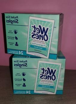 Wet Ones Sensitive Skin Pocket Size, Lot of 2 - 48 individua