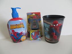 Amazing Spiderman Hand Soap + Plastic BPA Free Cup + Hand Sa