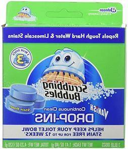 Scrubbing Bubbles Continuous Clean Drop-Ins, Blue Disc, 3 ct