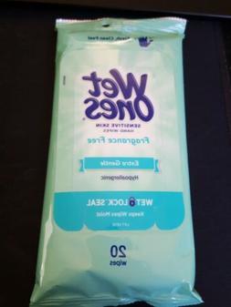 Wet Ones Wipes Fragrance Free Sensitive Skin Travel Size 20